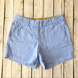 J crew chinos flat Front light blue cotton shorts